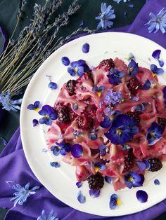 Blackberry Lavender Pasta | Havocinthekitchen.com