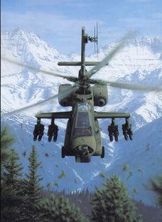 """AH-64A Apache """"Rising"""" by Dru Blair"""