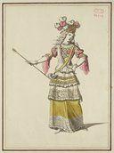 Maquette de costume d'un spectacle. Jean Bérain
