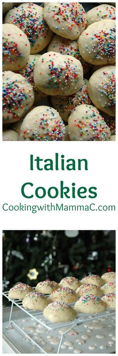 These Italian Cookies have a soft, cake-like texture and a glossy finish from the cooked glaze. My favorite Christmas cookies!