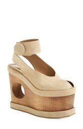 Stella McCartney 'Cornelia' Cutout Platform Wedge Sandal (Women)