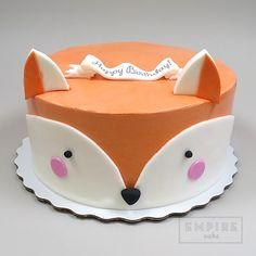 Empire Cake Collection Fox Creative Birthday Cakes, Birthday Cake Girls, 8th Birthday, Fox Cake, Fox Party, Rabbit Cake, Wilton Cake Decorating, Animal Cakes, Fox Cookies