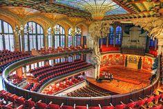 the Beautiful Palau de la Musica Catalana.