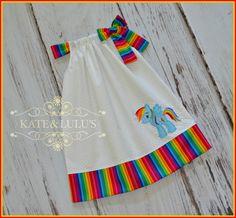 Little Pony Rainbow Dash Dress - Little Pony Birthday Dress - Rainbow Pony Dress - Girls Dress - Birthday Dress by KateandLulus on Etsy https://www.etsy.com/listing/154714488/little-pony-rainbow-dash-dress-little