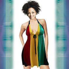Rasta Urban Wear | Rasta Ladies Empress Dress Negril Reggae Jamaica New | eBay