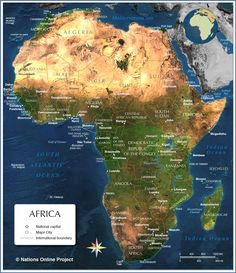 Africa Map Countries And Capitals   Online Maps: Africa country map ...