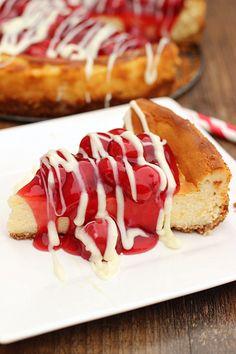 Cherry Cheesecake. Delicious white chocolate cheesecake topped ...