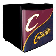 Cleveland Cavaliers Dorm Room Mini-Fridge from Team Sports. Click now to shop NBA Game Day & Tailgating Coolers & Ice Chests. Arena Football, Basketball Teams, Cleveland Caveliers, Mini Fridge, Refrigerator, American Hockey League, Quicken Loans Arena, Gifts For Sports Fans, Dorm Room