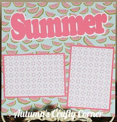 Summer Basic Premade Scrapbook Page 12x12 Layout