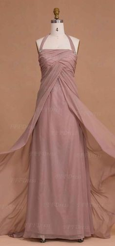 Halter Dusty Rose Maternity Bridesmaid Dresses For Pregnant