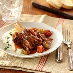 Slow Cooker Beef Short Ribs Recipe from Land O'Lakes