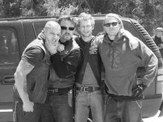 Juice // Chibs // Half Sack // Jax // Sons Of Anarchy. My fave samcro brothers :)