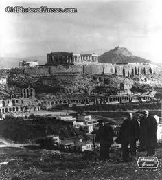 The Acropolis and Parthenon of Athens and Lycabettus Hill in the background