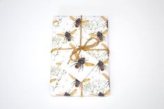 - 50 x luxury Gift Wrap - Printed onto high quality uncoated FSC certified paper - Recyclable - Carefully folded with or without a cellophane (biodegradable) envelope Winter Leaves, Rachel Reynolds, Bee Gifts, My Tea, Watercolor Print, Biodegradable Products, Wraps, Stationery, Greeting Cards