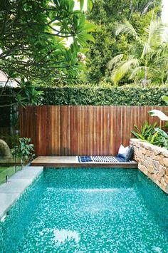 Bali inspired garden.  #garden #outdoor #private #pool #poolside