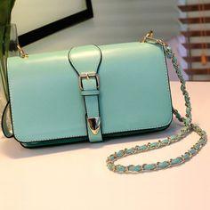 Green Faux Leather Chain Link Strap Handbag, womens handbags,designer  handbags,discount handbags,fashion handbags,cheap handbags,girls hand bags,shoulder  ... 6c85e952b3