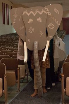 Image result for build elephant puppet lion king