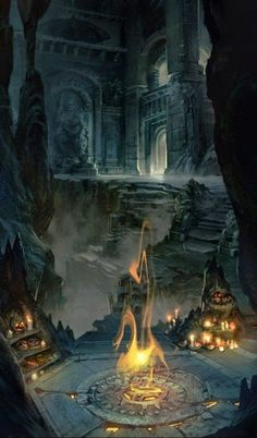 the flames of the catacombs
