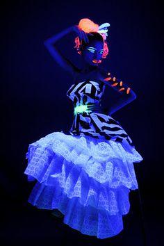 Neon UV body art