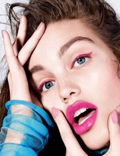 Luna Bijl | Colorful Makeup Beauty Editorial | Vogue Netherlands Cover