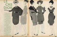 Christian Dior 1959 Baschmakoff Fashion Illustration