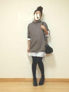 Haru☆│GUのニット・セーターコーディネート-WEAR