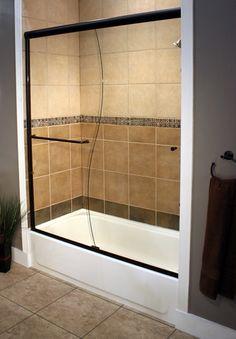 Tub Shower Doors tub shower doors | oil-rubbed-bronze-sliding-shower-bypass-on-tub