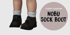 Chisami's Nobu Sock Boots The Sims 4 Pc, Sims Four, Sims 4 Mm Cc, Sims 4 Cas, Toddler Cc Sims 4, Sims 4 Toddler Clothes, Toddler Shoes, The Sims 4 Bebes, Sims 4 Children