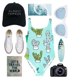 """""""My Life As Eva Inspired Look"""" by xlittlemisscoo ❤ liked on Polyvore featuring Nasaseasons, Quay, Converse, Eos, PBteen and Trademark Fine Art"""