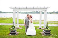 Just married bride and groom portrait on Lake Walden at Waldenwoods by Kate Saler Photography www.katesalerphotography.com #weddingsatwaldenwoods #waldenwoods #waldenwoodswedding #katesalerphotography #lakewalden