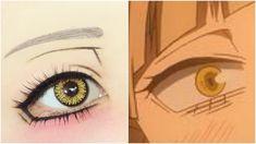 Toga Himiko from My Hero Academia Anime Eye Makeup, Anime Cosplay Makeup, Eye Makeup Art, Anime Eyes, Makeup Eyes, Cosplay Make-up, Halloween Cosplay, Kawaii Makeup, Cute Makeup