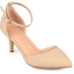 Brinley Co. Womens Ankle Strap Faux Suede Pumps, Women's, Size: 7.5, Beige