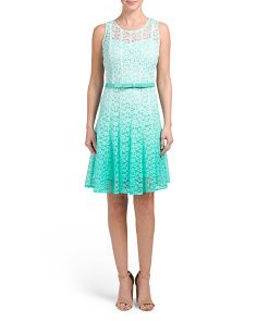 Sleeveless Lace Ombre Dress