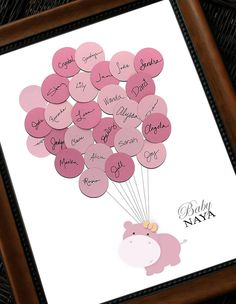 Baby Shower Guest Print Hippo - Say Anything Design