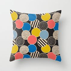 Memphis Inspired Pattern 6 Throw Pillow by Season of Victory - $20.00