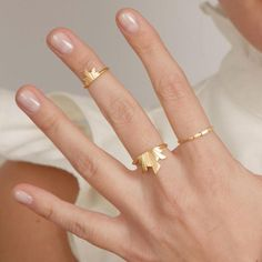 We are in the midst of a mid-finger ringer frenzy: GOLD FREY PINKY/MID-FINGER RING