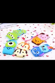 3D Disney Tsum tsum Style Silicone Soft Back Full Case Cover for iPhone 5 4 4S 5S 6  samsung | eBay