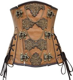 Intricate beading and metal accents make this corset stand out at any Renaissance Faire, and the lace-up sides and underbust style ensure serious sex appeal! The Violet Vixen - Renaissance Empress Real Leather Underbust Corset, $245.00 (http://thevioletvixen.com/authentic-corsets/renaissance-empress-real-leather-underbust-corset/)