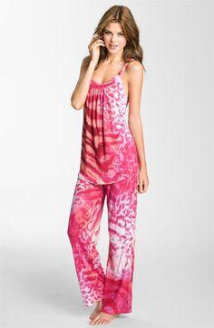 Natori 'Dara' Camisole Pajamas available at Cute Pjs, Cute Pajamas, Lingerie Sleepwear, Nightwear, Night Pajama, Pajama Set, Pajamas All Day, Girls Pajamas, Satin Pajamas