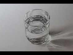 How to draw a Glass of Water, Time lapse - YouTube