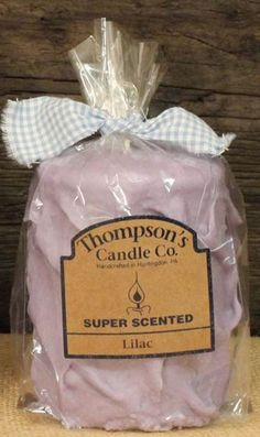 "Thompson's Candle Co Super Scented MED (18 oz) Pillar 80 Hrs ""Lilac"" #ThompsonsCandleCo"