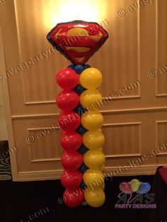 Super #superman Balloon Column