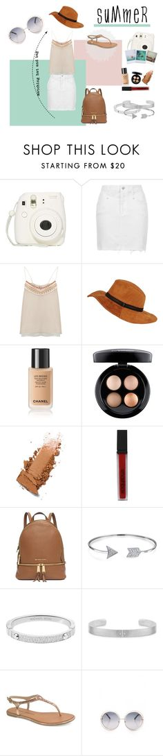 """summer time"" by oliviamarega on Polyvore featuring Polaroid, Topshop, BLANK, MAC Cosmetics, Smashbox, Michael Kors, Bling Jewelry, Chinese Laundry and summersandals"