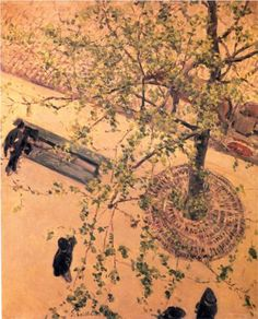 The Boulevard Viewed from Above - Gustave Caillebotte