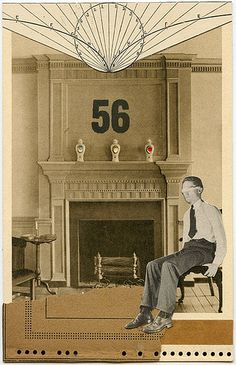Room 56, 2011.  Collage by Angelica Paez.