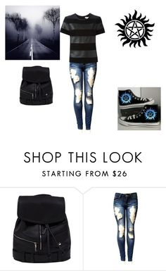 """Supernatural"" by vaug7168 ❤ liked on Polyvore featuring Converse and MICHAEL Michael Kors"