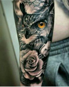 Owl Tattoos for Men | Tattoo, Owl and Tattoo black