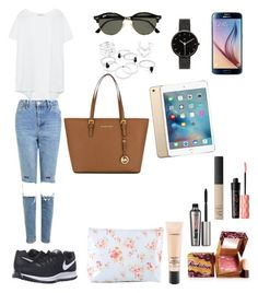 """""""Untitled #120"""" by lauragomez-5 on Polyvore featuring Topshop, NIKE, Samsung, Ray-Ban, I Love Ugly, MICHAEL Michael Kors, MAC Cosmetics, Benefit and NARS Cosmetics"""