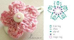 Lanas de Ana: Cómo: Hairclips simple flor