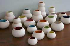 Love these!! Sweet Pea vases and bowls from Kim Westad